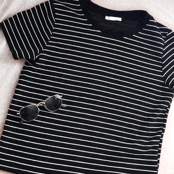 ed7465ab84 Zara Tops | Trafaluc Black Striped Shirt | Poshmark